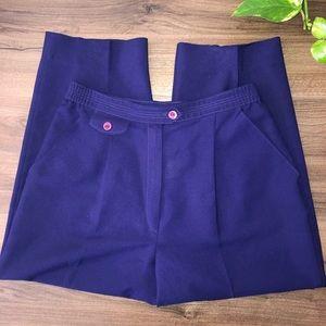 Vintage Purple High Waist Trousers Pants